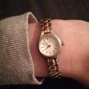 Caravelle by Bulova Gold & Silver Two Tone Watch